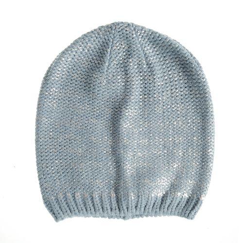 Caciula tricotata accente argintii poza 2021