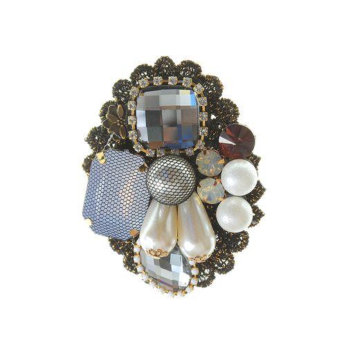 Brosa ovala perle acrilice poza 2021