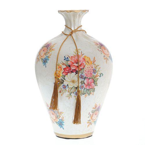 Vaza decorativa cu flori pictate poza 2021