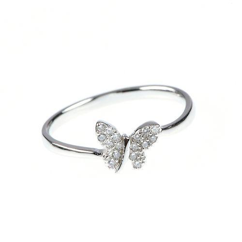 Inel argint fluture image0